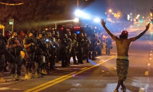 Aftermath of Michael Brown shooting, Ferguson, Missouri, America - 18 Aug 2014